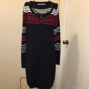 Wool rich sweater dress